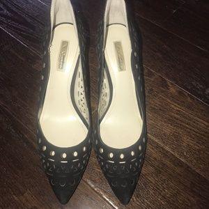 BCBG Generation Black Heels (Aztec Design)